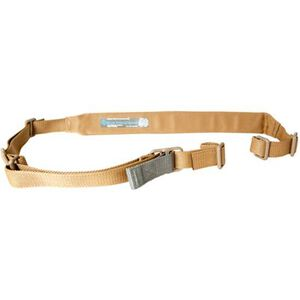 """Blue Force Gear Padded Vickers Combat Applications Sling 1.25"""" Wide Nylon Webbing with 2"""" Pad Polymer Hardware Coyote Brown VCAS-200-OA-CB"""