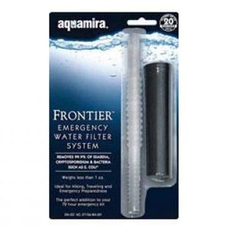 Aquamira Technologies Tactical Frontier Straw Filter Black  Clear 67109