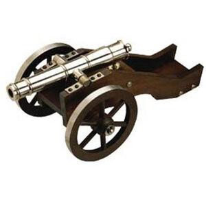 "Traditions Mini Yorktown Black Powder Cannon Kit .50 Cal 7.375"" Barrel Wooden Carriage 4.5"" Wheels Nickel"