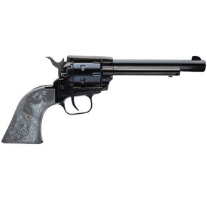 """Heritage Rough Rider .22 LR Single Action Rimfire Revolver 4.75"""" Barrel 6 Rounds Synthetic Gray Pearl Grips Black Finish"""