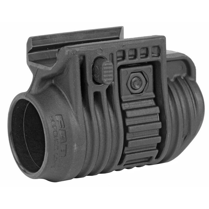 """FAB Defense Quick Release Mount Picatinny Compatible Fits Most 1"""" Flash Lights Polymer Matte Black"""