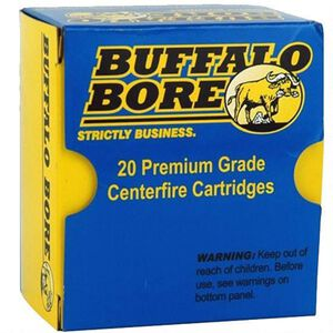 Buffalo Bore Heavy .44 Magnum Ammunition 20 Rounds Lead Flat Nose 305 Grains 4A/20