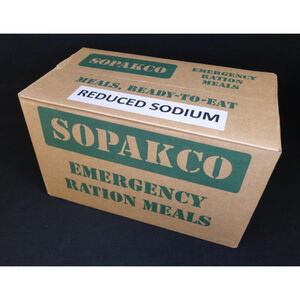 Case of 14 MRE SOPAKCO Sure-Pak Low Sodium Complete Meals