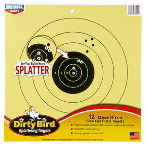 "Birchwood Casey Dirty Bird 25 Yard Pistol 12"" Targets Contrasting Colors 12 Targets"