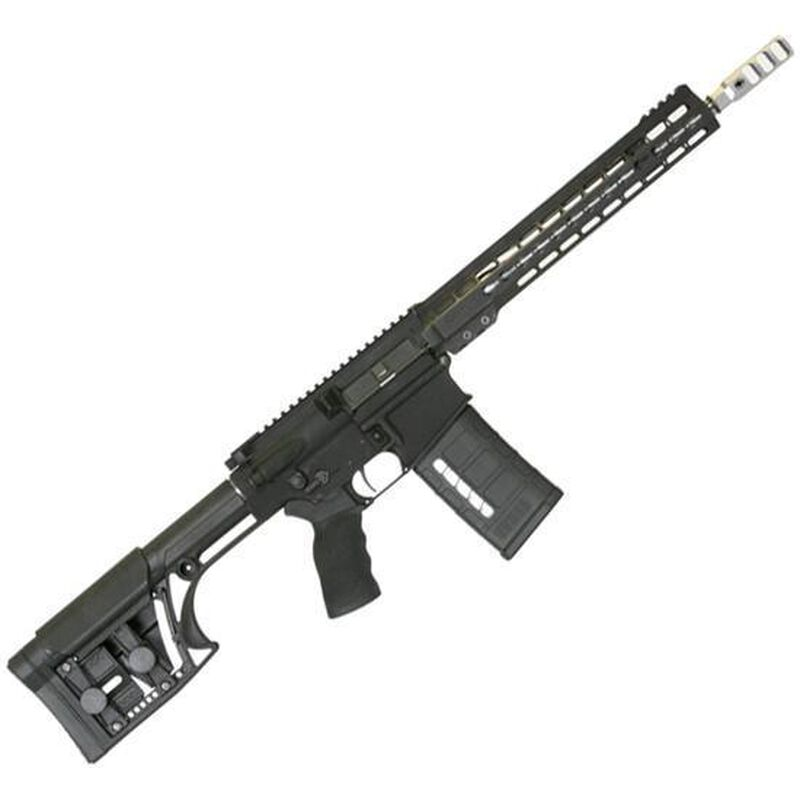 """ArmaLite AR-10 Competition Semi Auto Rifle .308 Winchester 13.5"""" Match Grade Stainless Steel Barrel Pinned/Welded Muzzle Brake 25 Rounds Free Float Competition Hand Guard MBA-1 Stock Matte Black"""