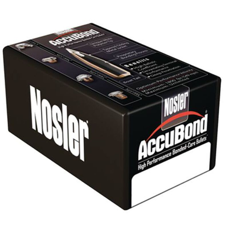 "Nosler AccuBond Rifle Bullets 338 Cal .338"" 300 Grain Polymer Tip Boat Tail 50 Count"