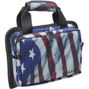 Allen Victory Duplex Attache Double Pistol Case US Flag