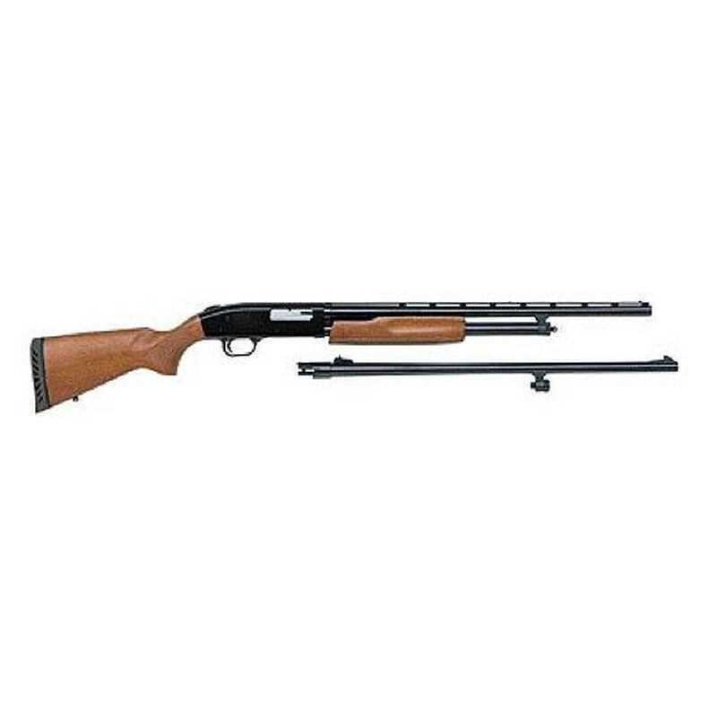 "Mossberg 500 Bantam Pump Action Field and Deer Shotgun Combo 20 Gauge 22""/24"" Barrel 6 Rounds Wood Stock Blued Finish 54188"