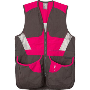 Browning Summit Shooting Vest Women's Smoke/Fuchsia X-Large