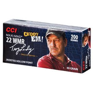 CCI Troy Landry Maxi-Mag .22 WMR Ammunition 200 Rounds JHP 40 Grain 1,875 Feet Per Second