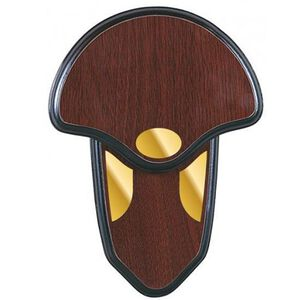 Allen Turkey Tail Mounting Kit Wood Grain Plaque Brass Cover