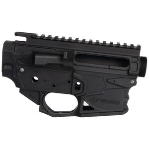 NEMO Arms Battle-Light AR-15 Billet Receiver Set CNC Machined Billet 7075-T6 Aluminum M4 Feed Ramps Mil-Spec Parts Compatible Hard Coat Anodized Finish Matte Black