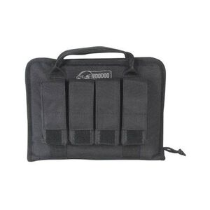 Voodoo Pistol Case with Magazine Pouches 12 x 2 x 9 Inches Black