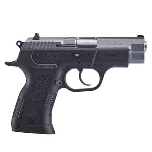 "Sarsilmaz B6C Compact Semi Auto Pistol 9mm Luger 3.8"" Barrel 13 Rounds Fixed Sights Manual Thumb Safety External Hammer Polymer Frame Black Finish Stainless Steel Slide"