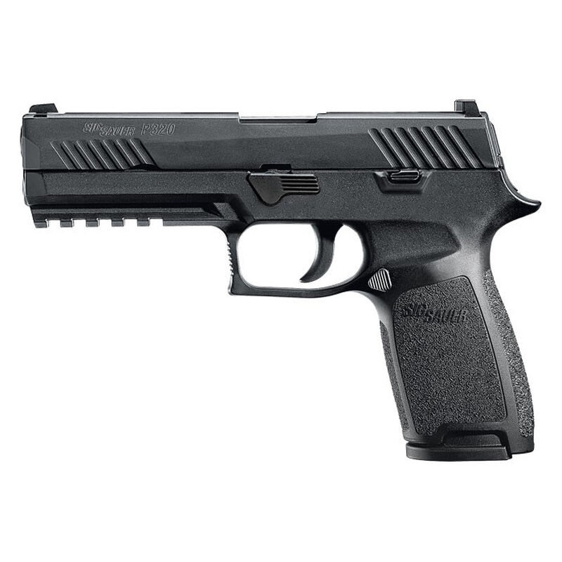 "SIG Sauer P320 Nitron Full Size Semi Auto Pistol 9mm Luger 4.7"" Barrel 10 Rounds SIGLITE Sights Modular Polymer Frame/Grip Matte Black Finish"