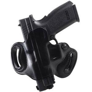 DeSantis Mini Slide Belt Holster For GLOCK 43 Left Hand Leather Black 086BB8BZ0