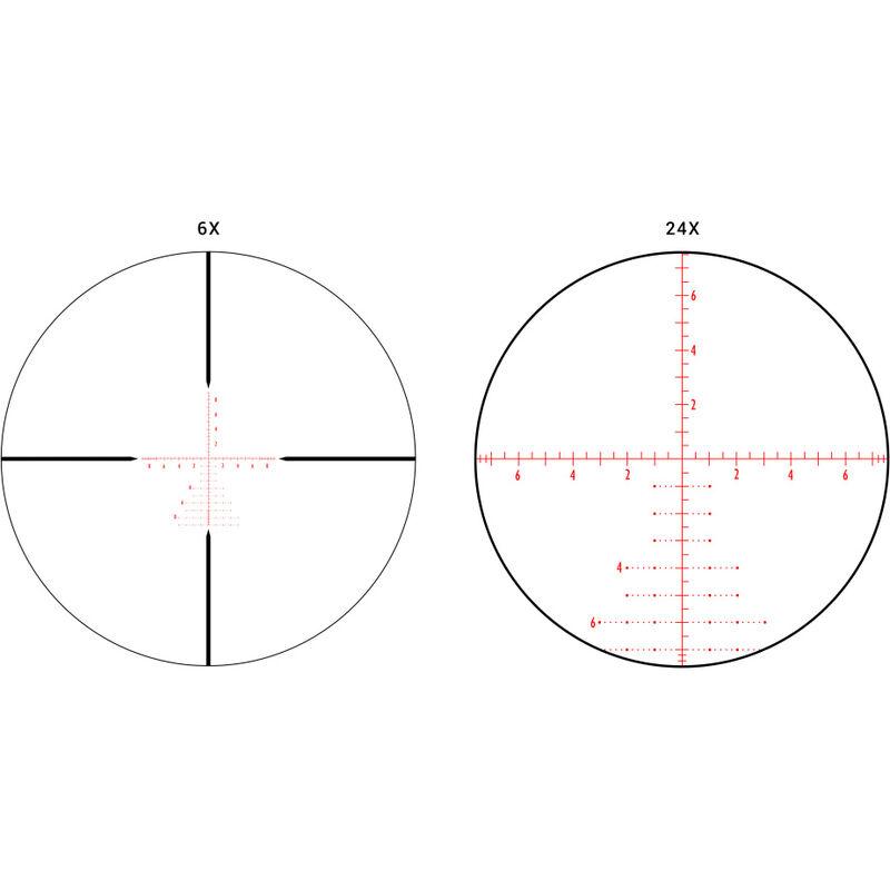Athlon Helos BTR Riflescope 6-24x50mm, 30mm Main Tube, APMR FFP IR MIL,  Glass Etched Reticle, Black