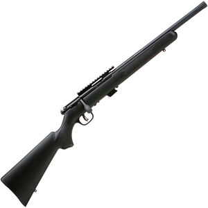 "Savage Mark II FV-SR .22 LR Bolt Action Rimfire Rifle 16.5"" Heavy Threaded Barrel 5 Rounds with Scope Rail Black Synthetic Stock Black Finish"