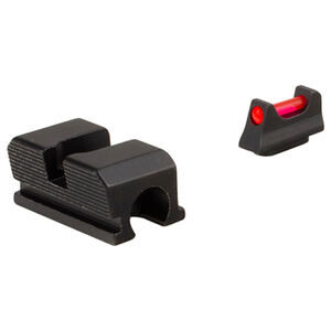 Trijicon Fiber Optic Sight Set Fits Walther PPS/PPX/PPS M2/Creed Red Fiber Front/Blacked Out Rear Steel Housing Matte Black Finish