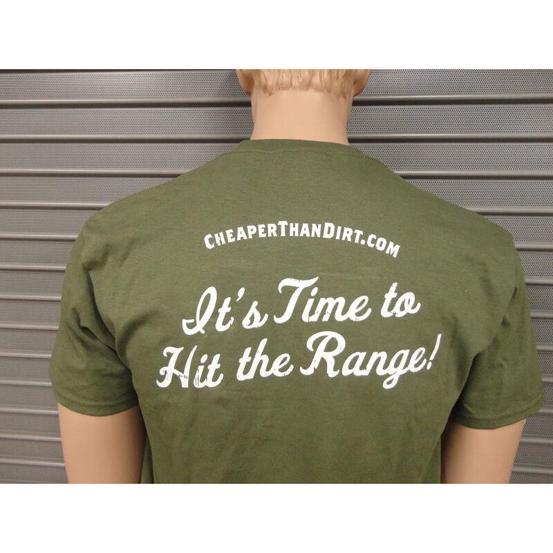 Cheaper Than Dirt Range Day Friday OD Green T-Shirt