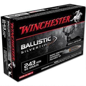 Winchester Silvertip .243 Win Ammunition 20 Rounds, BST, 95 Grains