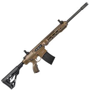 "UTAS XTR-12 Semi Auto Shotgun 12 Gauge 18.5"" Barrel 5 Round Detachable Box Magazine Collapsible Stock Burnt Bronze Finish"
