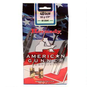 Hornady American Gunner.40 S&W Ammunition 60 Rounds XTP HP 180 Grains 91367