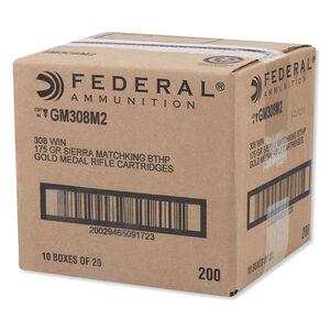 Federal Gold Medal Match .308 Winchester Ammunition 175 Grain Sierra MatchKing BTHP 2600 f