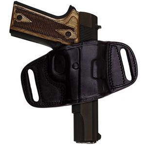 TAGUA Gunleather Quick Draw 1911 Government Belt Holster Right Hand Leather Black BH2-200
