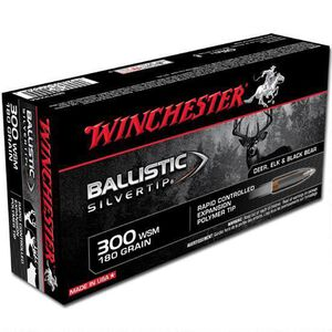 Winchester Silvertip .300 WSM Ammunition 20 Rounds BST 180 Grains SBST300SA