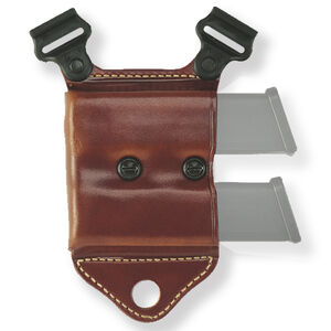 Galco HCL Magazine Carrier for Shoulder System Fits GLOCK 9/40, S&W M&P, Browning Hi Power and Similar Ambidextrous Leather Tan