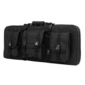 """NcSTAR AR15 and AK Deluxe Carbine Pistol Case 28""""x12"""" 3 Exterior Pockets Padded Divider PVC Black"""