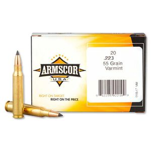 Armscor USA .223 Rem Varmint Ammunition 55 Grain Polymer Tipped 3050 fps 20 Rounds