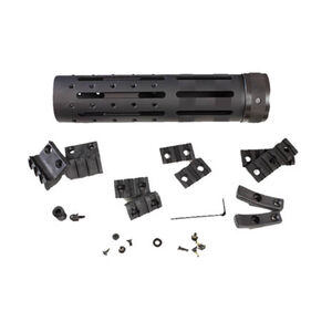 """Hogue AR-15 Free Float Forend Extension 8"""" Knurled Aluminum with Accessories Black 15066"""
