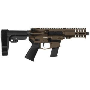 "CMMG Banshee 300 MkG .45 ACP AR-15 Semi Auto Pistol 5"" Barrel 13 Rounds Uses GLOCK Style Magazines RML4 M-LOK Handguard CMMG Micro/CQB RipBrace Midnight Bronze Finish"