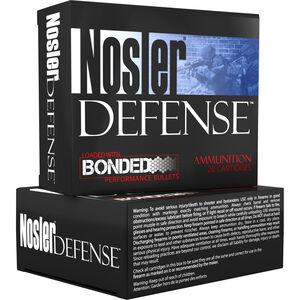 Nosler Defense 45 ACP +P Ammunition 20 Rounds 230 Grain Tipped Bonded Projectile