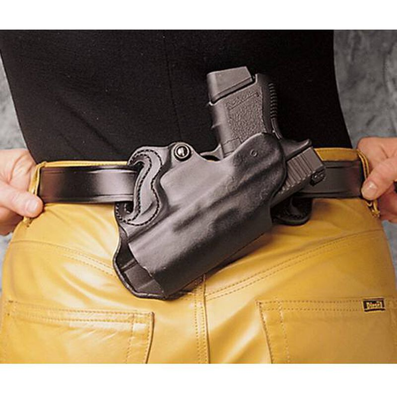 DeSantis Small of Back Holster S&W M&P 9/40 M&P Compact and Similar OWB Belt Holster Right Hand Leather Black