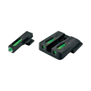 TruGlo TFX Standard Height Kimber 1911 Models with Fixed Rear Sights Only Front/Rear Day/Night Sight Set Green Tritium 3-Dot Configuration Steel Black TG13KM1A