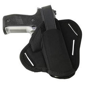 Uncle Mike's Super Belt Slide Holster Size 30 H&K USP 9/40/45 Ambidextrous Nylon Black 86300