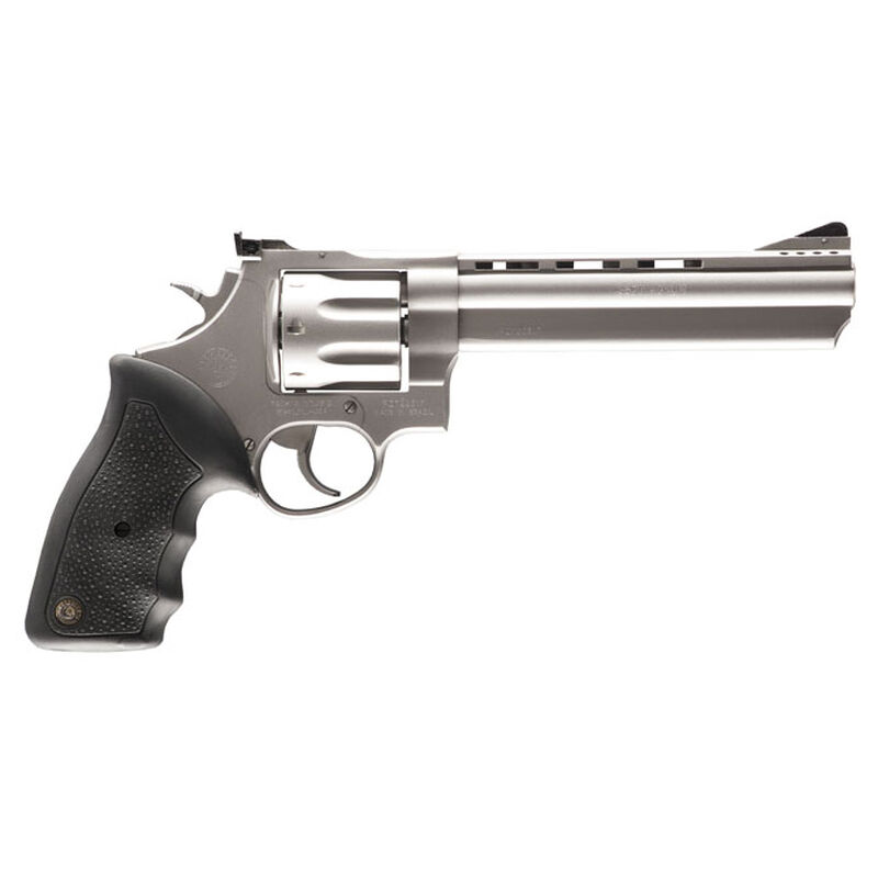 "Taurus 608 Double Action Revolver .357 Magnum 6.5"" Ported Barrel 8 Rounds Fixed Front Sight/Adjustable Rear Sight Soft Rubber Grip Matte Stainless Steel Finish"