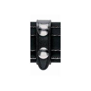 "Safariland Model 65 Leather Belt Keeper Two Brass Snaps 3/4"" wide 2.25"" Belt Pack of 4 Black 65-4-2B"