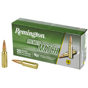 Remington Premier Match 6.5 Grendel Ammunition 20 Rounds 120 Grain OTM 2590 FPS