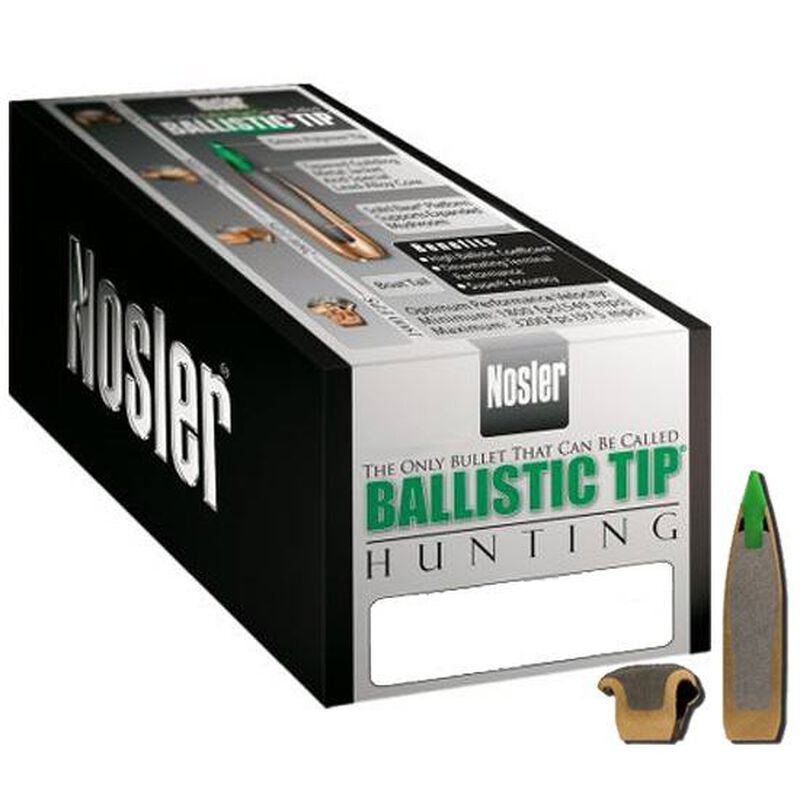 "Nosler 7mm Caliber (.284"" Diameter) 140 Grain Spitzer Red Ballistic Tip Hunting Bullet 50 Count 28140"