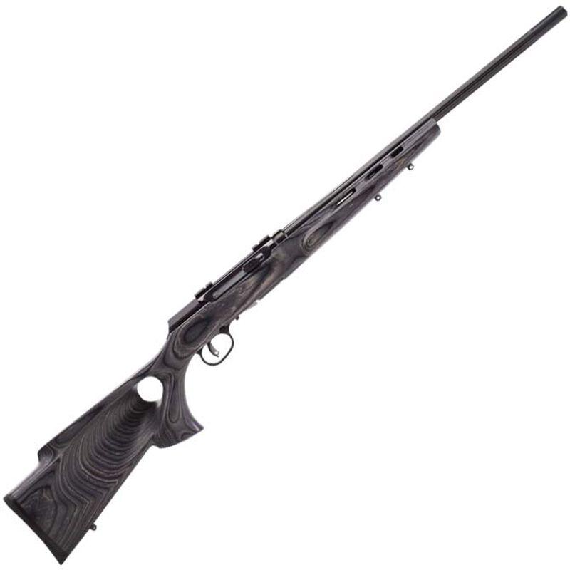 "Savage Model A17 Target Semi Auto Rimfire Rifle .17 HMR 22"" Heavy Barrel 10 Rounds Grey Laminate Thumbhole Stock Matte Black"