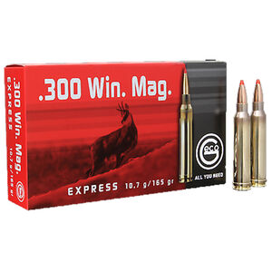 GECO .300 Winchester Magnum Ammunition 20 Rounds 165 Grain GECO Express Polymer Tip Projectile