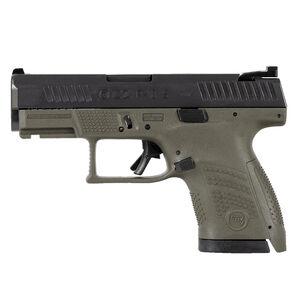 "CZ P-10 S Sub-Compact 9mm Luger Semi Auto Pistol 3.5"" Barrel 10 Rounds Night Sight Fiber Reinforced Polymer Frame OD Green/Black Finish"
