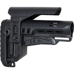 """NcSTAR Tactical PCP52 AR-15 Collapsible Stock With 5.5"""" Adjustable Cheek Piece Fits Mil-Spec Buffer Tubes Polymer Black"""