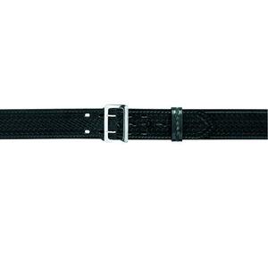 "Safariland Model 87 Duty Belt 2.25"" Suede Lined 30"" Length Brass Buckle Basket Weave Finish Black 87-30-8B"