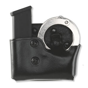Galco Cop Magazine and Cuff Paddle Carrier Leather Black  MCP22B
