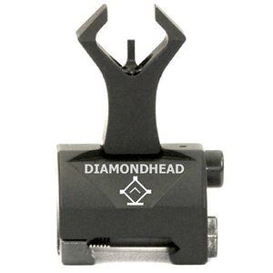 Diamondhead AR-15 Diamond Front Flip-Up Combat Sight, Aluminum, Black